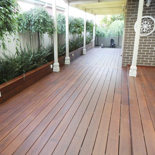 Fingerjointed Merbau Reeded Decking
