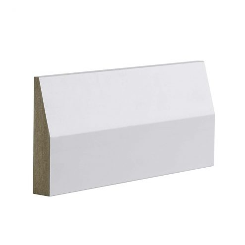 MDF MR EO Splayed Skirting