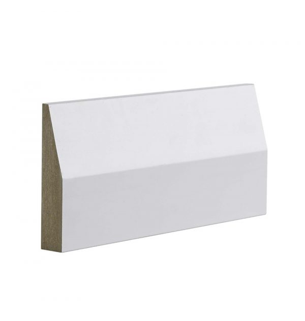 MDF MR EO Splayed Skirting - Pine Timber Products